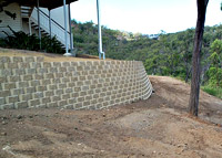 Betascapes - Retaining Wall on Slope