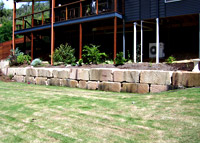 Betascapes - Sandstone Retaining Wall