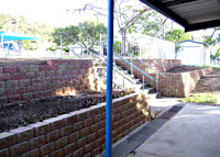 Betascapes - School Retaining Wall